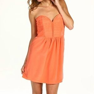 Twelfth St by Cynthia Vincent Quilted Orange Dress